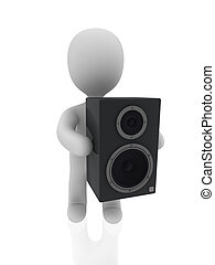 3d person carry speaker
