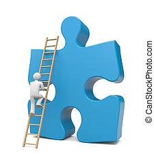 3d person climb to success