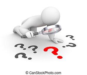 3d person examines question