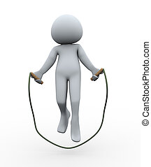 3d person jumping rope