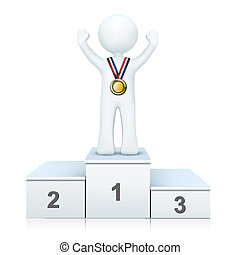 3d person on winning podium