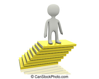 3d person on yellow books