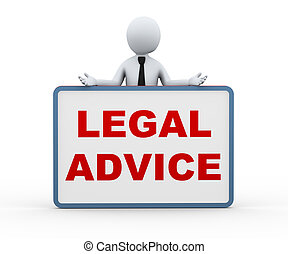 3d person presenting legal advice