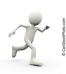 3d person running