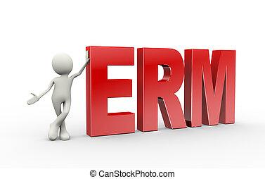 3d person standing with erm enterprise risk management