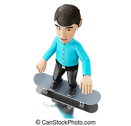 3d person with a skateboard.