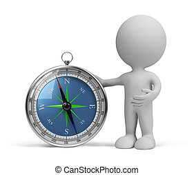 3d person with compass