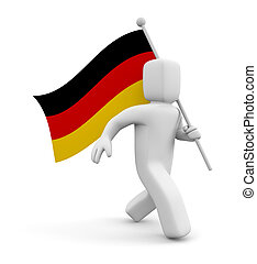 3d person with Germany flag