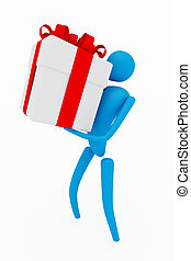 3d person with gift
