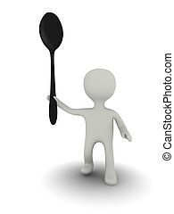 3d person with spoon