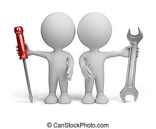 3d, persona, -, reparadores