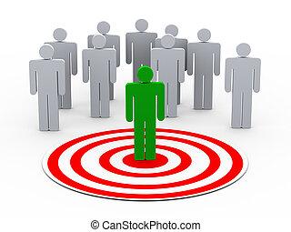 3d, persona, selezione, da, persone, gruppo