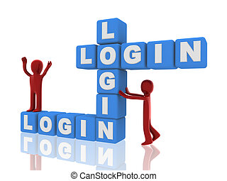3d persons, login of boxes