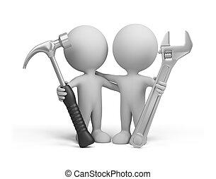 3d, pessoa, –, repairers