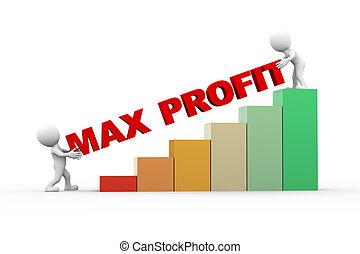 3d, pessoas, com, texto, max, lucro