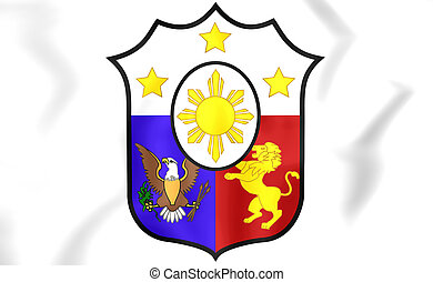 Philippines Coat of Arms - 3D Philippines Coat of Arms. ...