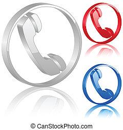 3D phone symbol
