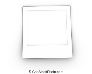 3d rendered image of a blank photo. Highly detailed and with clipping path for easy insertion of graphic.