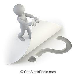 3d, piccolo, persone, -, domanda, sotto, il, pagina