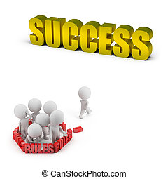 3d, piccolo, persone, -, regole, e, successo