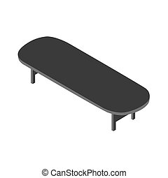3D picture of a table on a white background. Vector illustration