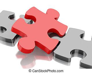 3D Piece of puzzle