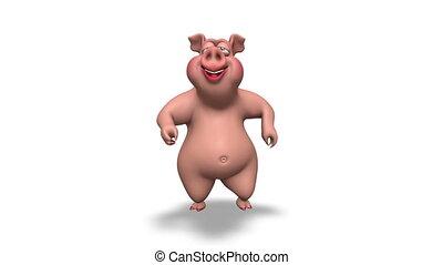 3D Pig Dance 2 Alpha Loop