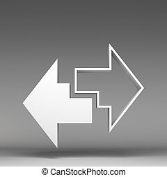3d, pijl, pictogram
