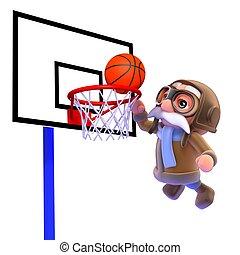 3d Pilot plays basketball