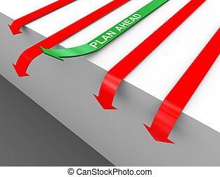 3d plan ahead arrow