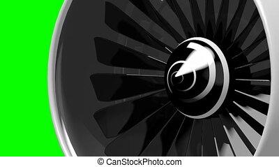 3D plane engine/ jet engine - blades