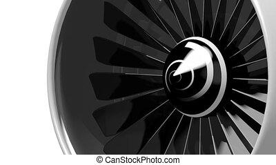 3D plane engine/ jet engine - blades, white background....