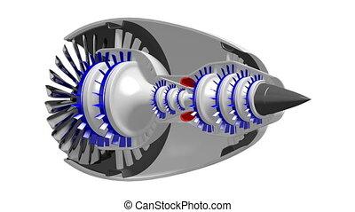3D plane/ jet engine