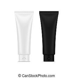 3d plastic tubes for cream and gel, hygiene
