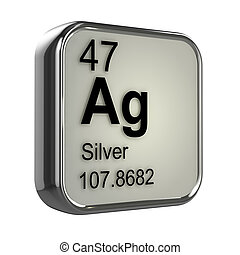 Render ag elemento qumico tabla peridica plata 3d 3d plata elemento urtaz Choice Image