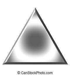 3d, plata, triángulo