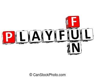 3D Playful Fun Crossword