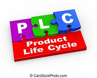 3d plc puzzle pieces illustration