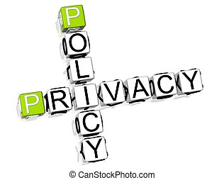 Policy Privacy Crossword - 3D Policy Privacy Crossword on...