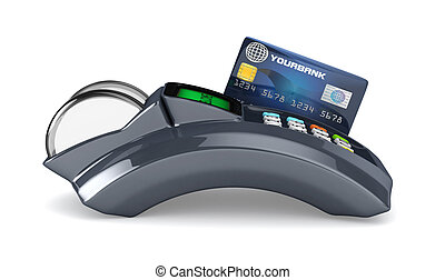 3D POS-terminal with credit card