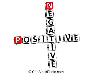 3d, positivo, negativo, crossword