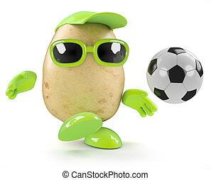 3d Potato soccer