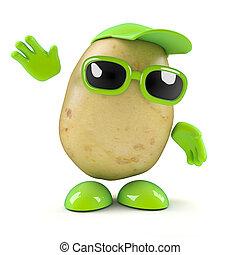 3d Potato waves