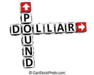 3D Pound Dollar Crossword