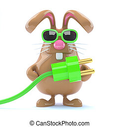 3d Power bunny