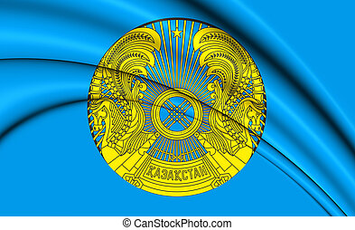 3D President of Kazakhstan Standard. 3D Illustration.