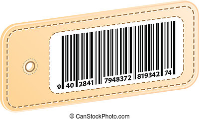 3D Price Tag With Bar Code Label