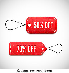 3D Price tags vector illustration