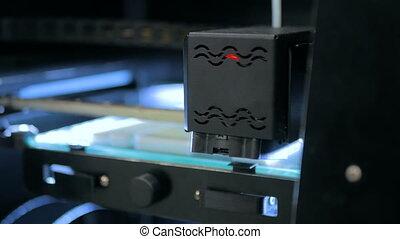 3D printer during work