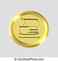 3d printer icon - computer generated clipart